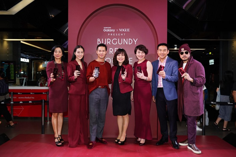 """""""Samsung X Vogue Present Burgundy Red Lounge in partnership with Absolute Siam"""""""