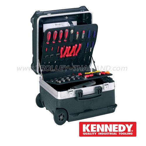 KEN-593-2780K กระเป๋าเครื่องมือทรงเจมส์บอนด์ (มีล้อลาก) HPDE Resin High Capacity Case