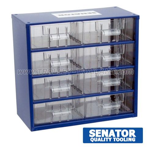 SEN-593-5100K กล่องเครื่องมือพลาสติกมีลิ้นชัก กล่องเก็บอะไหล่ (สีน้ำเงิน) SERVICES CASES