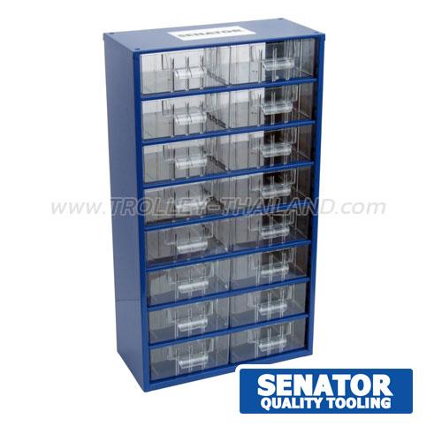 SEN-593-5200K กล่องเครื่องมือพลาสติกมีลิ้นชัก กล่องเก็บอะไหล่ (สีน้ำเงิน) SERVICES CASES