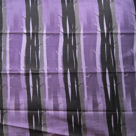 ผ้าคอตตอนญี่ปุ่น ลายต้นไม้ สีม่วง ขนาด 1/4 หลา (45 x 55 ซม.)