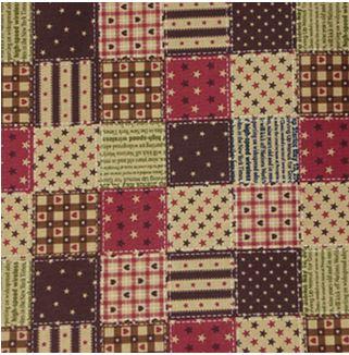ผ้าตอตตอนญี่ปุ่น ลายสี่เหลี่ยมใหญ่ สีน้ำตาลเข้ม ขนาด 1/4 หลา (45 x 55 ซม.)
