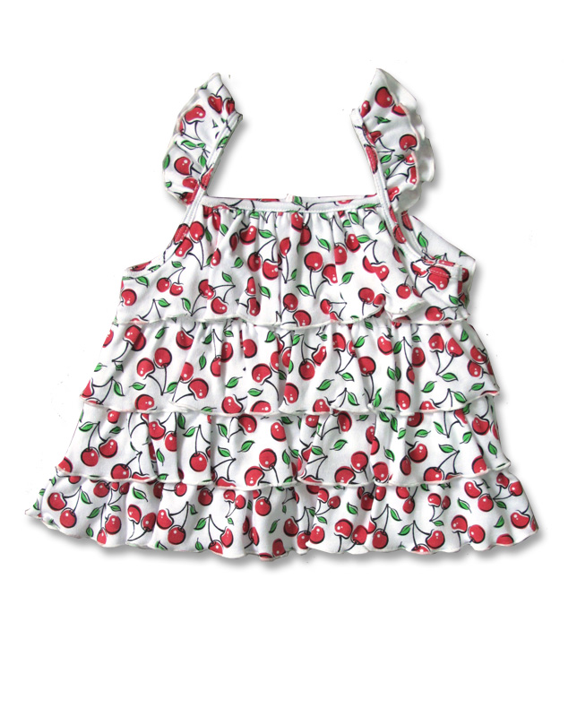 Six Bunnies CUTE CHERRIES tank Baby Kleid