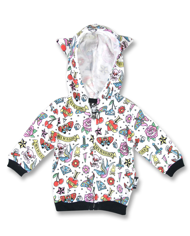 Six Bunnies CUTE FLASH Baby Kapuzenpullover / Hoodies.