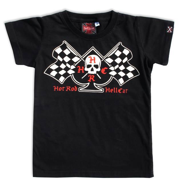 Hotrod Hellcat FLAGS Kids T-Shirts