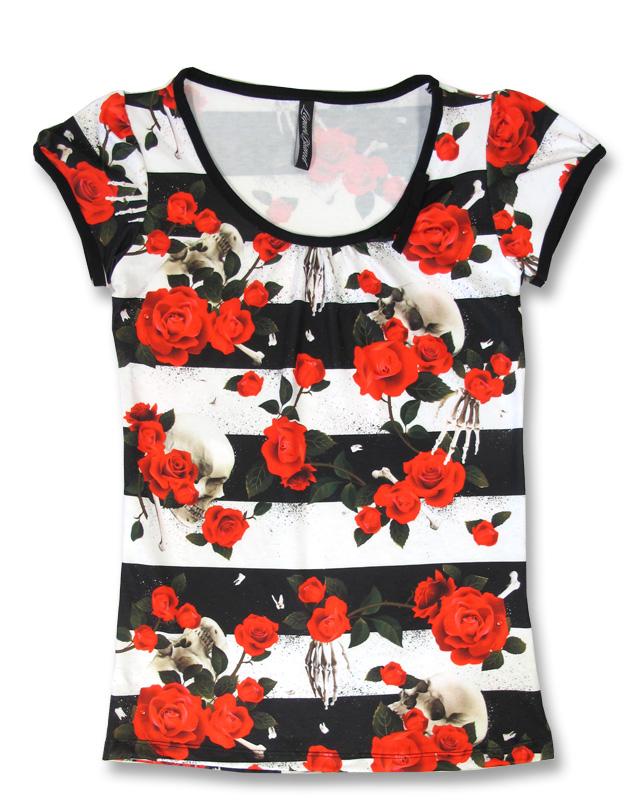 Liquor Brand SKULLS N ROSES Damen T-Shirts