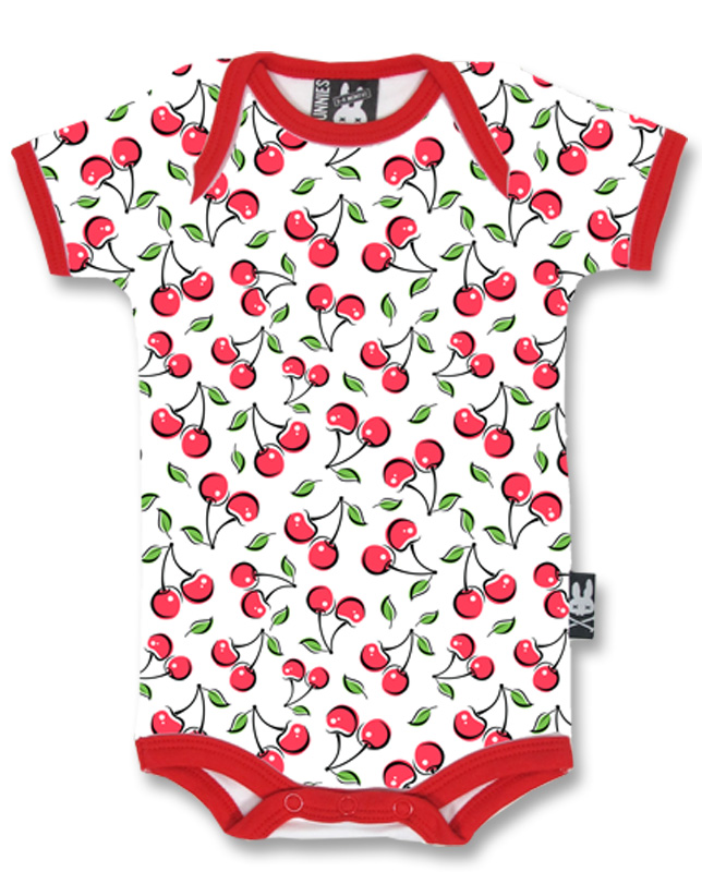 Six Bunnies CUTE CHERRIES Baby Strampler