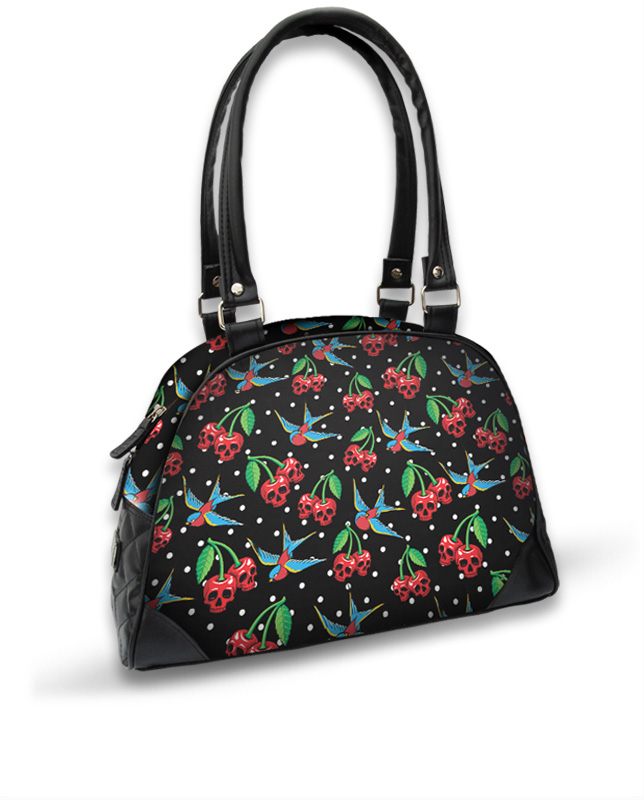Liquor Brand CHERRIES SKULLS Accessories Bag-Handbag