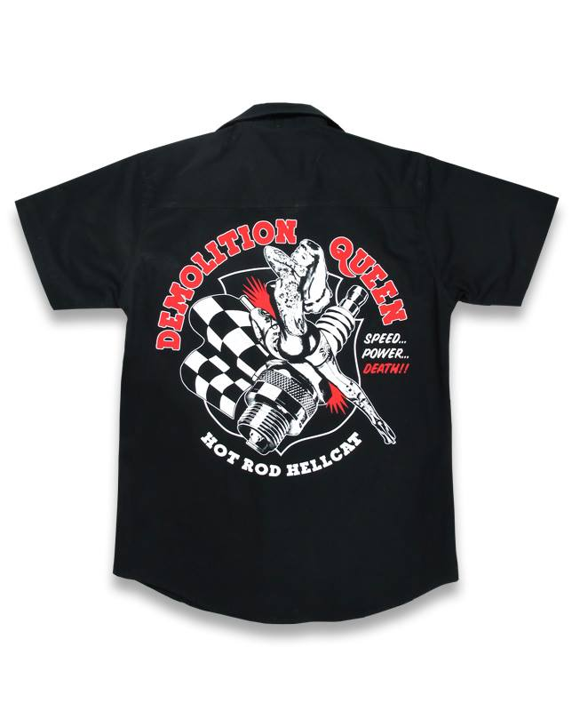Hotrod Hellcat DEMOLITION QUEEN Men Workshirt