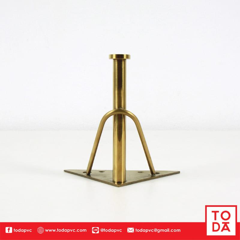 ขาเหล็ก 3 แฉก TD-063 15 cm. ชุบสีทอง