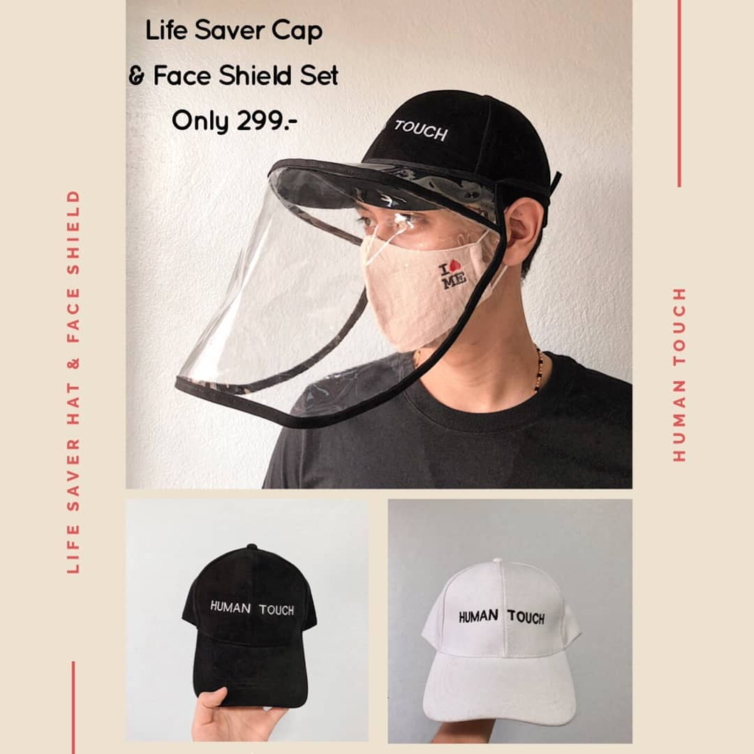 Life Saver Hat with Face Shield