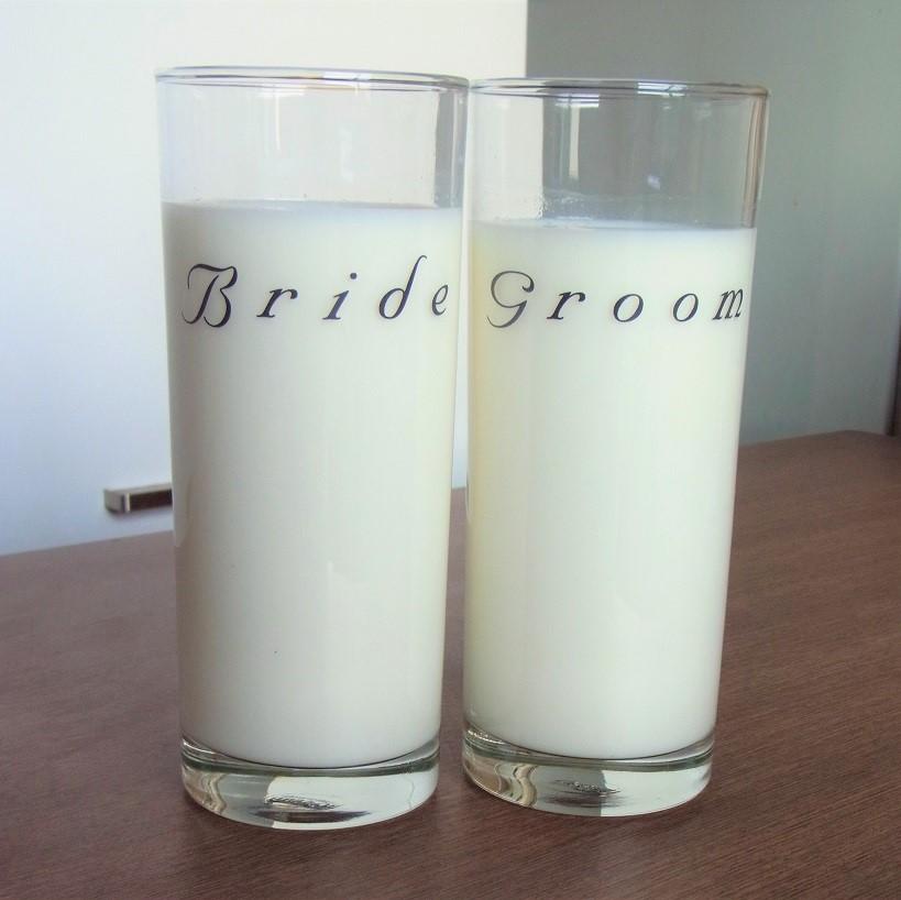 Bride and Groom Glass Set