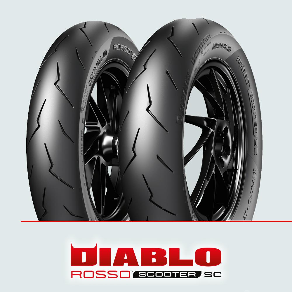 Pirelli DIABLO ROSSO SCOOTER SC :  100/90-12 + 120/80-12
