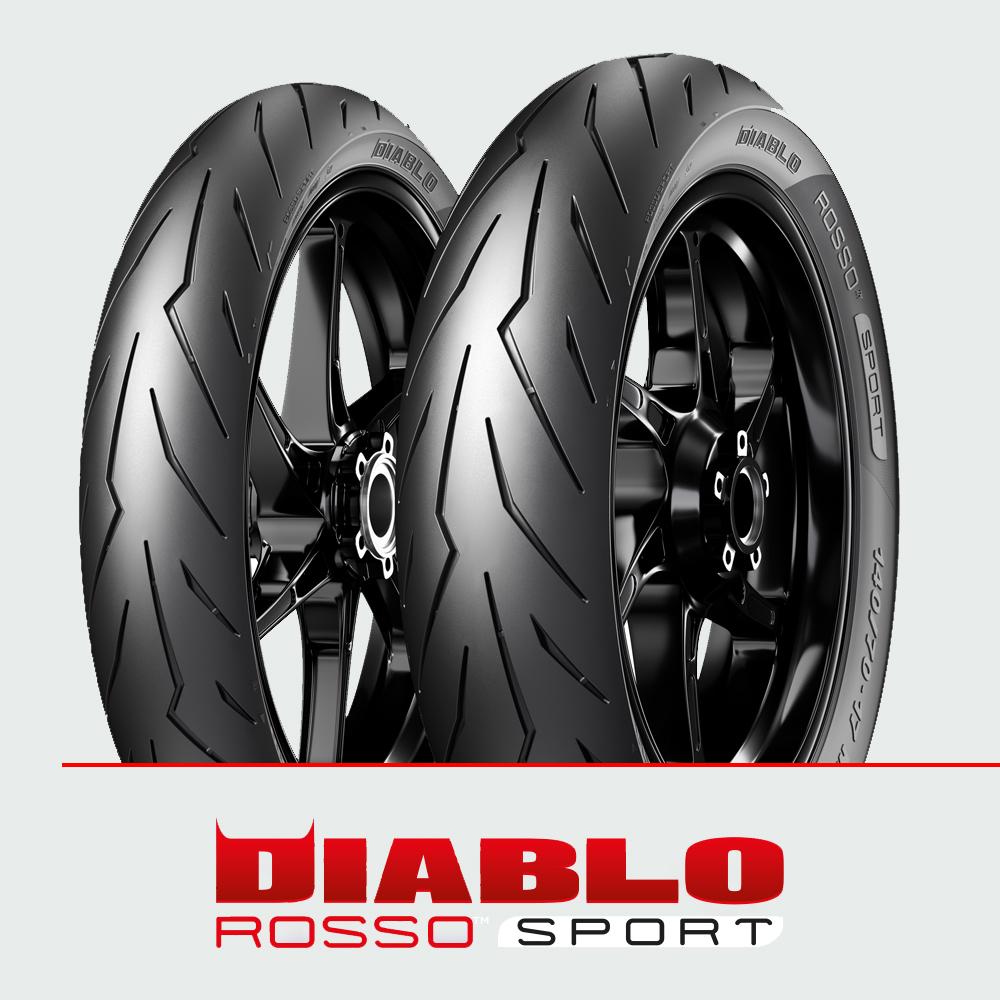 Pirelli DIABLO ROSSO SPORT : 90/80-17 + 130/70-17