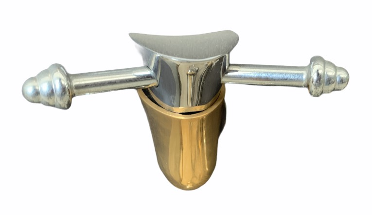 CT761#CG ขอแขวนผ้า โครเมียม-ทอง รุ่น ROSANNA- COTTO