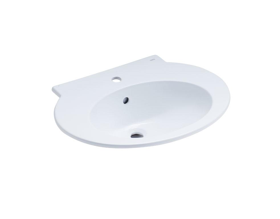 อ่างล้างหน้า แบบฝังบนเคาน์เตอร์ Hygiene รุ่น CHARISMA สีขาว