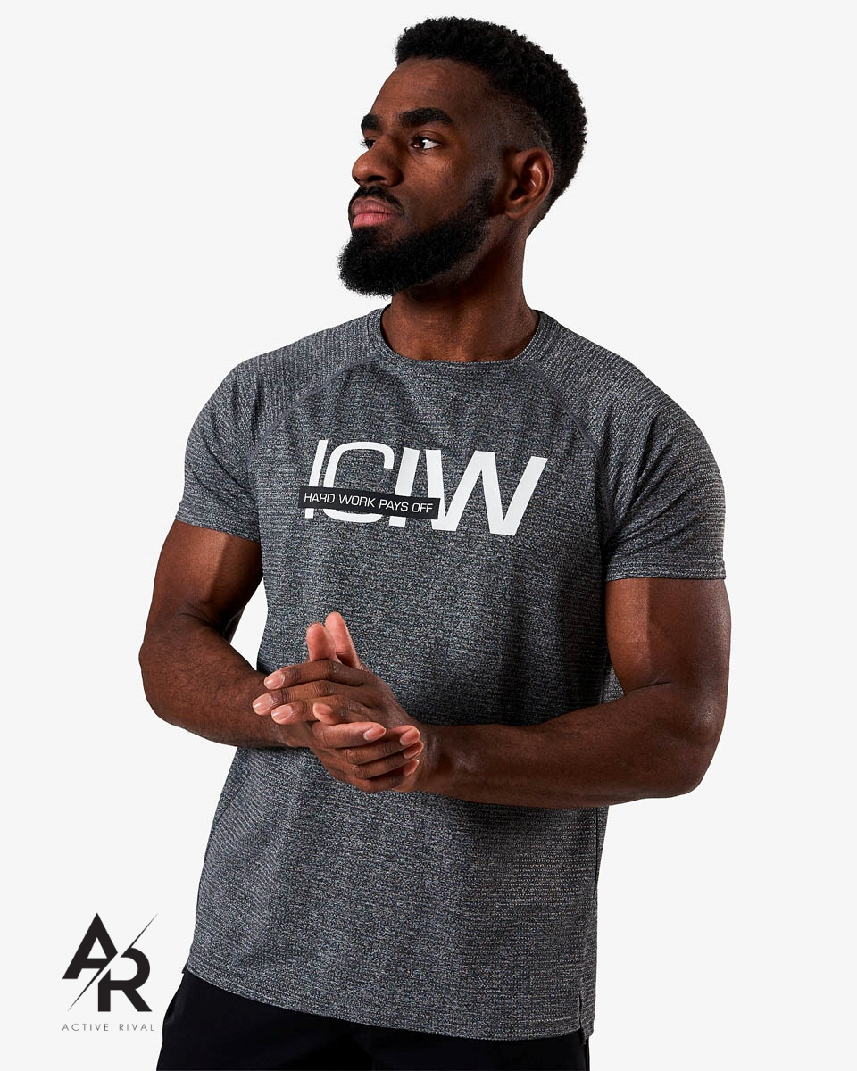 Training Mesh T-shirt Grey Melange Men