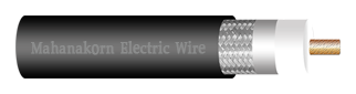CCTV COAXIAL CABLE, RG-6/U, 95% SHIELD, ECONOMICAL DESIGN