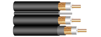 CCTV COXIAL CABLE, RG SERIES (59, 6, 11), 95% COPPER SHIELD, PROFESSIONAL INSTALLATION
