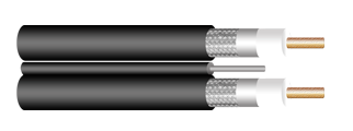 CCTV COXIAL CABLE, RG SERIES (59, 6, 11), 90% TINNED COPPER SHIELD, PROFESSIONAL INSTALLATION