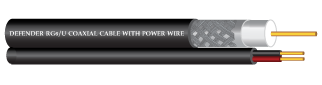 RG6/U  COAXIAL CABLE Shield 144  With Power wire