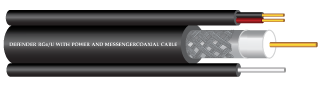 RG6/U  COAXIAL CABLE Shield 128  With Power wire and messenger