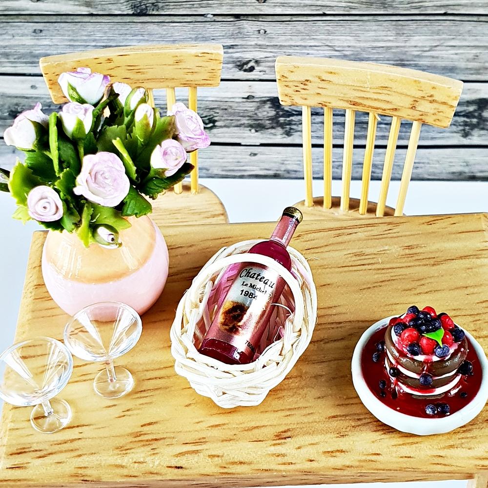 Dollhouse Miniatures Beverage Drink Wine Bottle Set for Barbie Blythe Decoration Supply