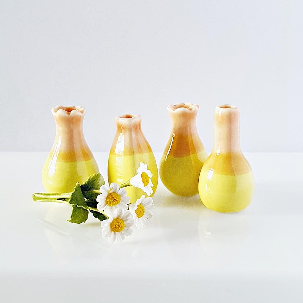 Dollhouse Miniatures Ceramic Vase Pastel Colors