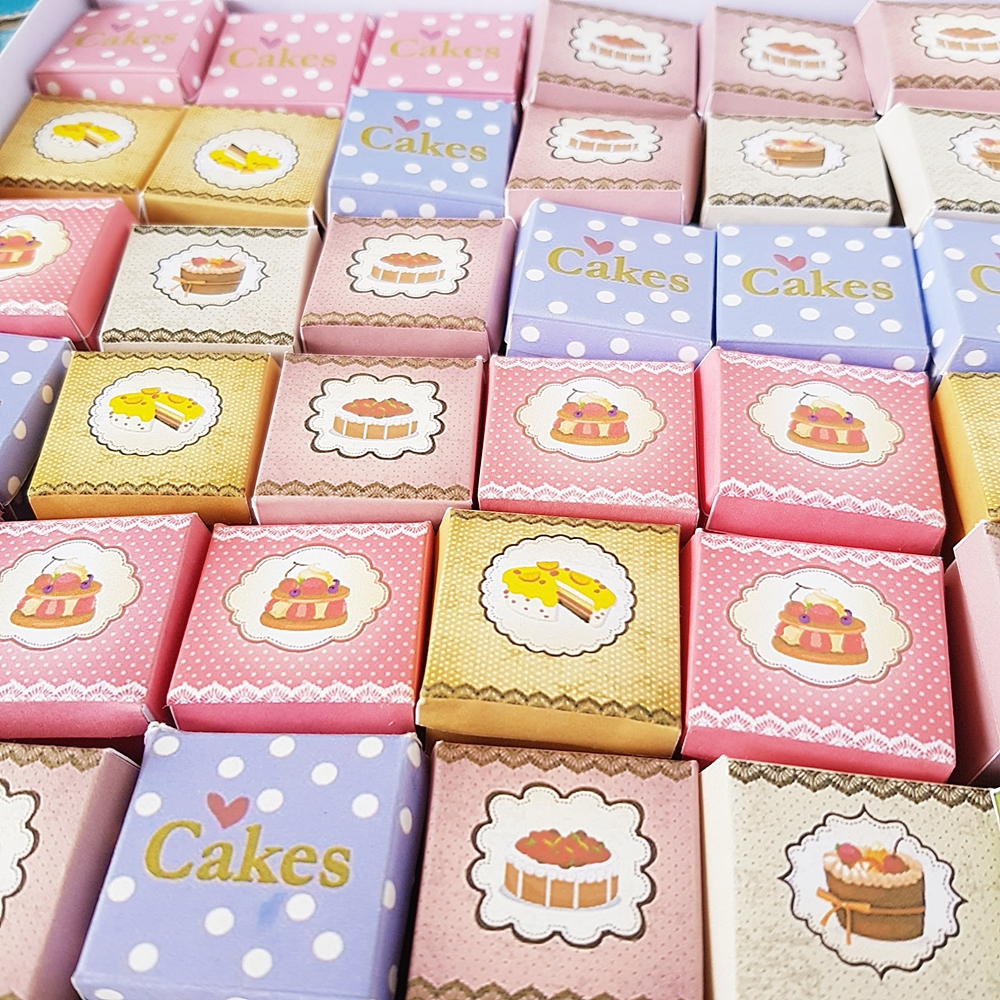 50x Cake Boxes Dollhouse Miniature Food Bakery Accessories Wholesale Price