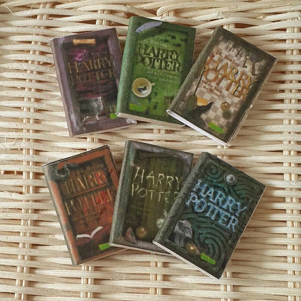6 Pcs  Wooden Books HARRY POTTER Set No.2
