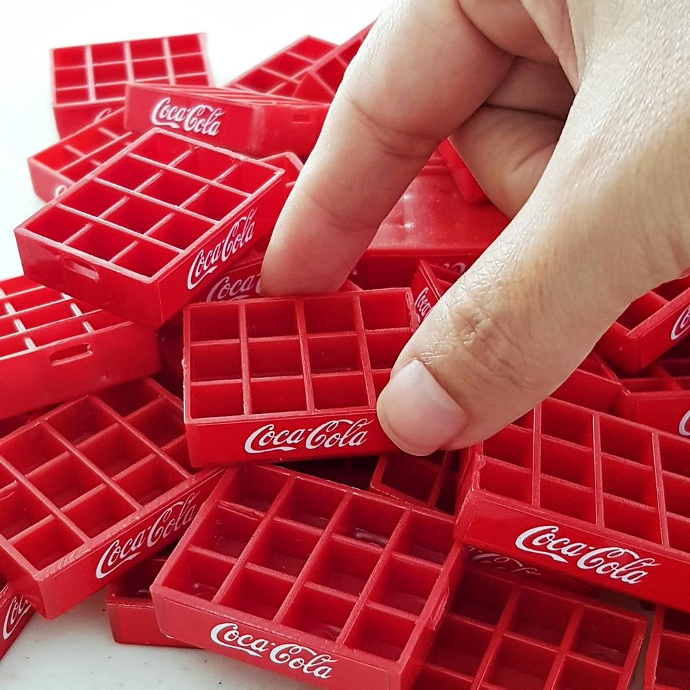 Coca-Cola Coke Crate Tray Dollhouse Miniatures Collectibles Wholesale Lot x50