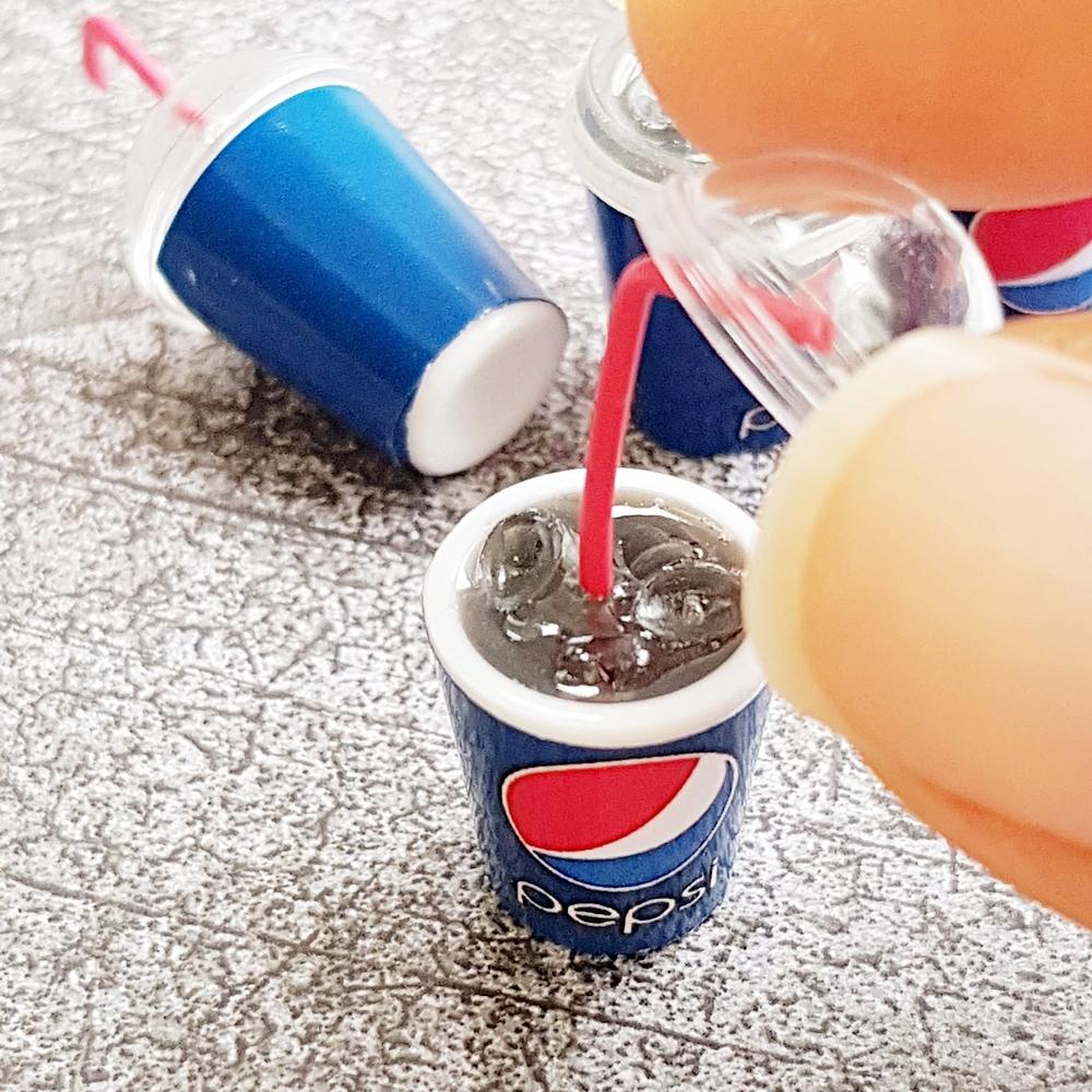 Ice Pepsi Dollhouse Miniature Beverage Drink Soda Cup x 1 Pcs