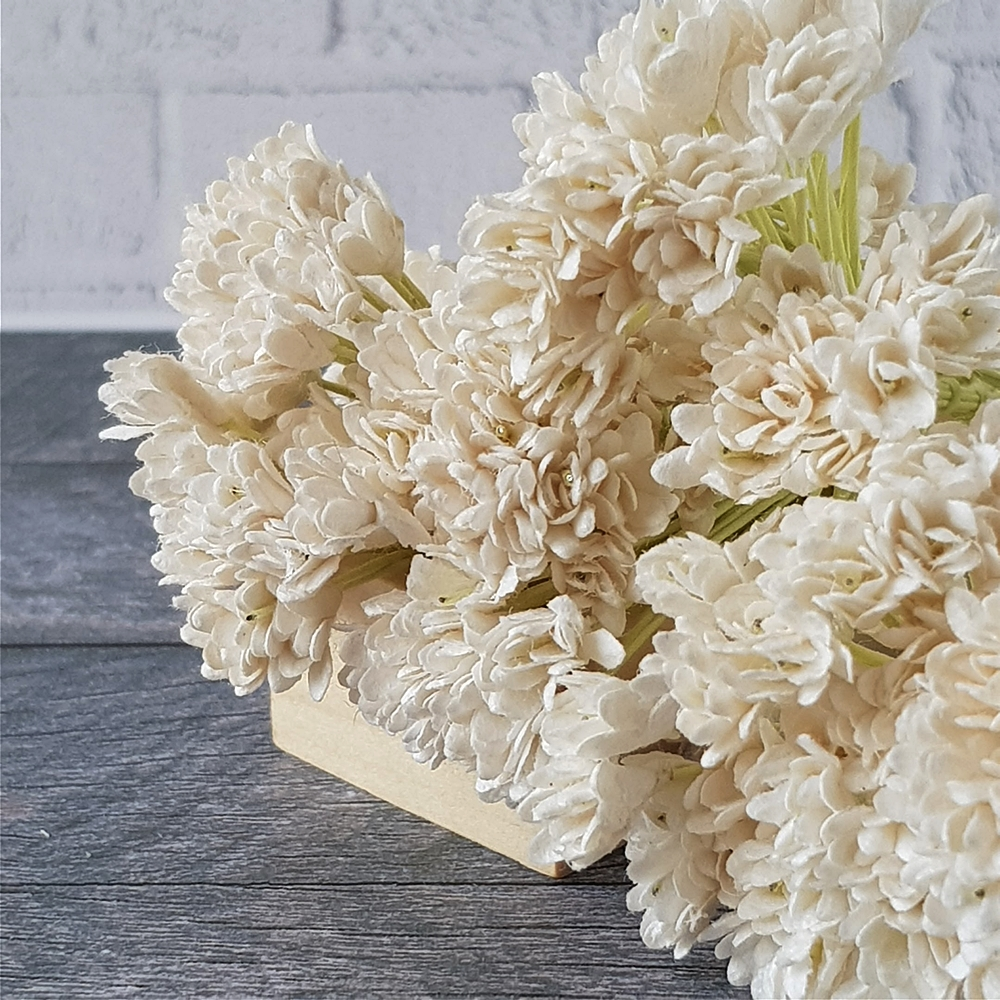 White Gypsophila Gypso Mulberry Paper Flower