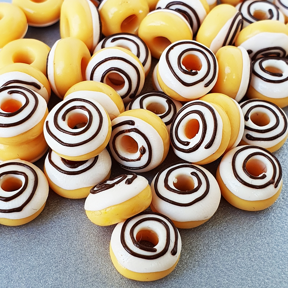 10x Doughnuts Donuts for Dollhouse Miniature Food Groceries Sweet Bakery