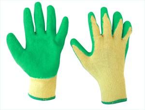 ถุงมือผ้าเคลือบยางธรรมชาติกันลื่น