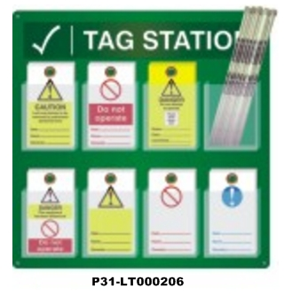 LOCKOUT TAG HOLDER / STATION
