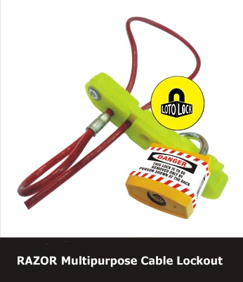 RAZOR MULTIPURPOSE CABLE LOCKOUT