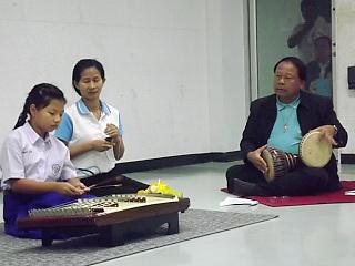 การสอบปฎิบัติเครื่องดนตรีขิม  ครั้งที่ 1/2561