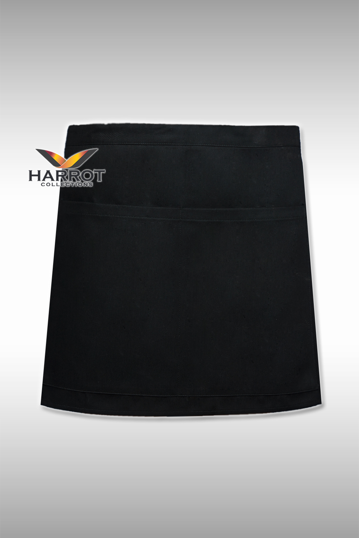 ผ้ากันเปื้อน ผ้ากันเปื้อนเชฟ ผ้ากันเปื้อนพ่อครัว ผ้ากันเปื้อนกุ๊ก ผ้ากันเปื้อนเสิร์ฟ ครึ่งสั้น 13 นิ้ว สีดำ (FSA0122)