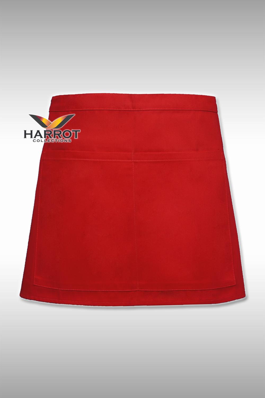 ผ้ากันเปื้อน ครึ่งสั้น 13 นิ้ว สีแดง