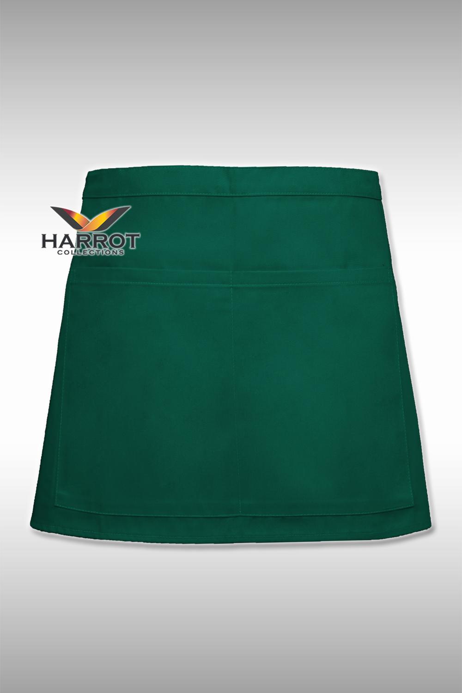 ผ้ากันเปื้อน ครึ่งสั้น 13 นิ้ว สีเขียว