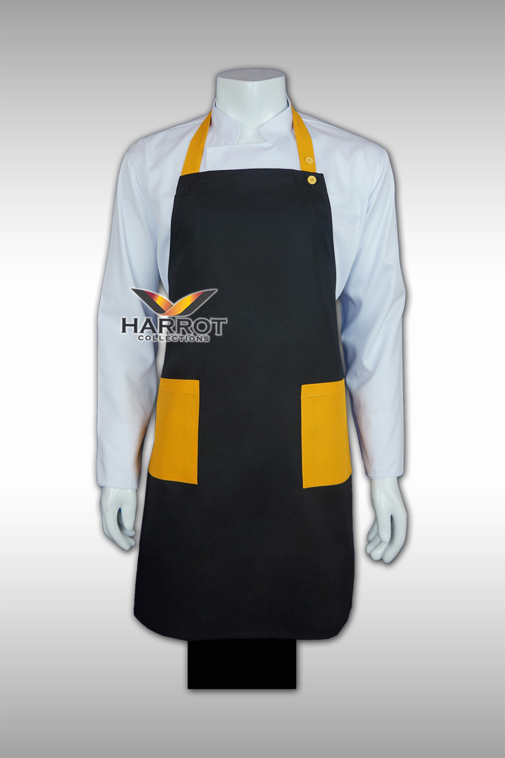 Yellow-Black Full Apron