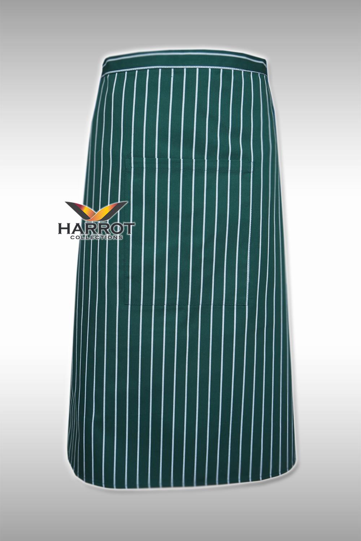 ผ้ากันเปื้อน ผ้ากันเปื้อนเชฟ ผ้ากันเปื้อนพ่อครัว ผ้ากันเปื้อนกุ๊ก ผ้ากันเปื้อนเสิร์ฟ ครึ่งยาว ลายลาครัวเขียว (FSA0223)