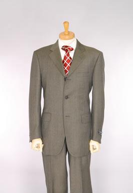 กระดุม 3 เม็ด ,สีเทาแดง ,ผ้า Wool