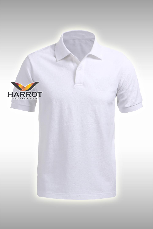 เสื้อยืดโปโล สีขาว