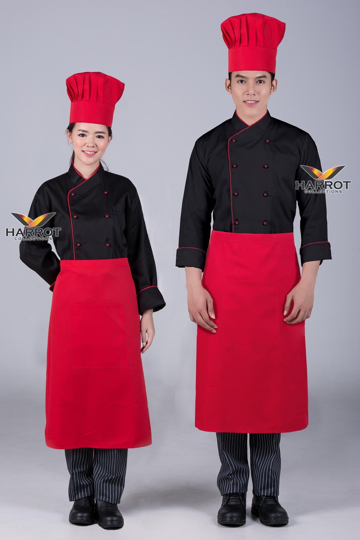 เสื้อกุ๊ก แขนยาว คอป้าย สีดำกุ๊นแดง กระดุมถอดได้ สีแดง