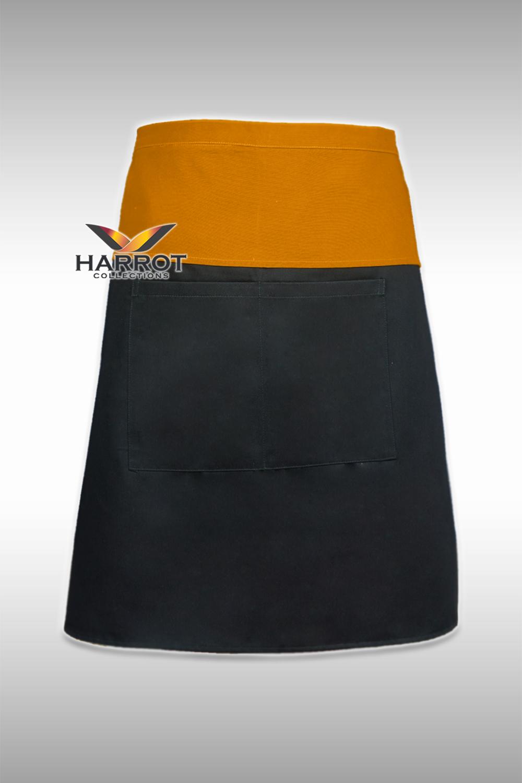 Black-Yellow Half Short Apron