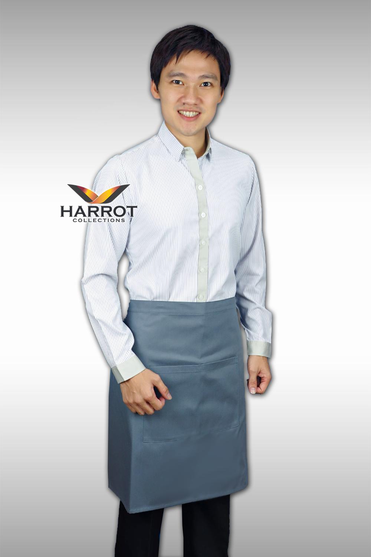 เสื้อพนักงานเสิร์ฟ แขนยาว ลายริ้ว