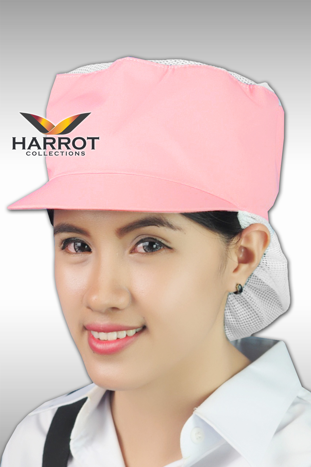 Pink Cooking Hat with Net