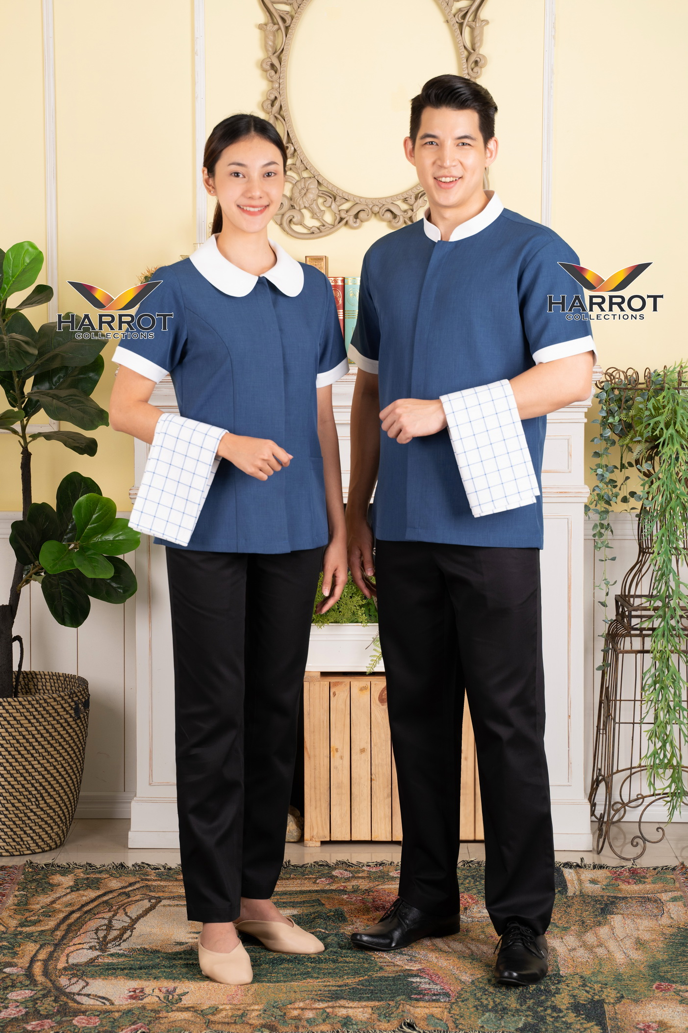 Blue-White   Housekeeper Shirt (HKP0502)